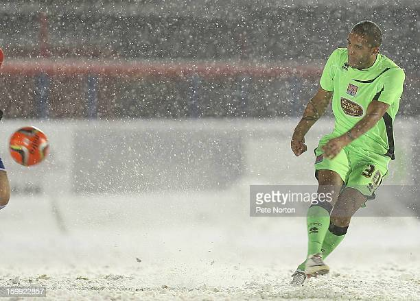 Clarke Carlisle of Northampton Town in action during the npower League Two match between Aldershot Town and Northampton Town at the EBB Stadium on...