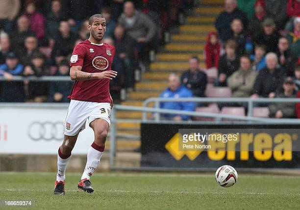 Clarke Carlisle of Northampton Town in action during the npower League Two match between Northampton Town and York City at Sixfields Stadium on April...