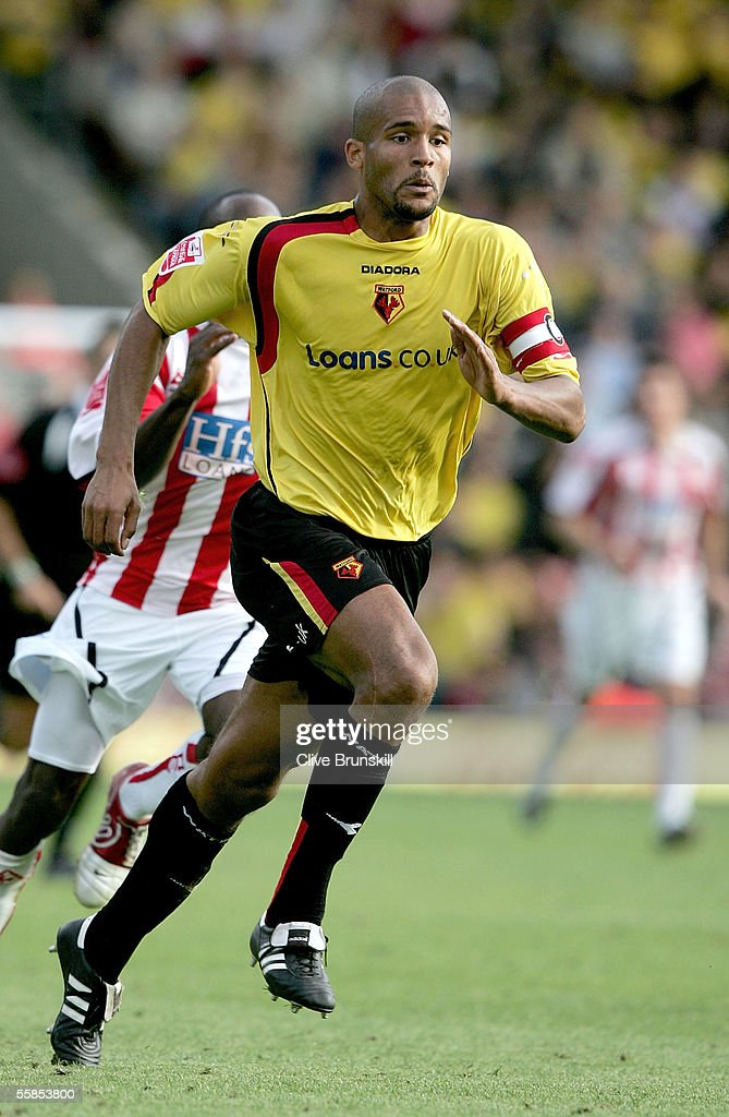 Clarke Carlisle of Watford in action during the Coca Cola Championship match between Watford and Sheffield United at Vicarage Road on September 17, 2004 in Watford, England.