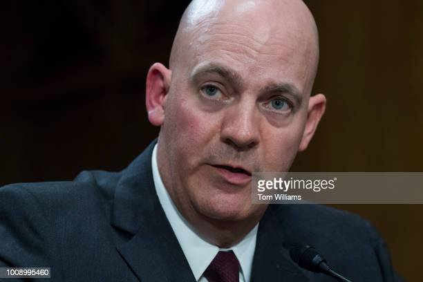 R Clarke Cooper nominee to be an Assistant Secretary of State testifies during a Senate Foreign Relations Committee nominations hearing in Dirksen...