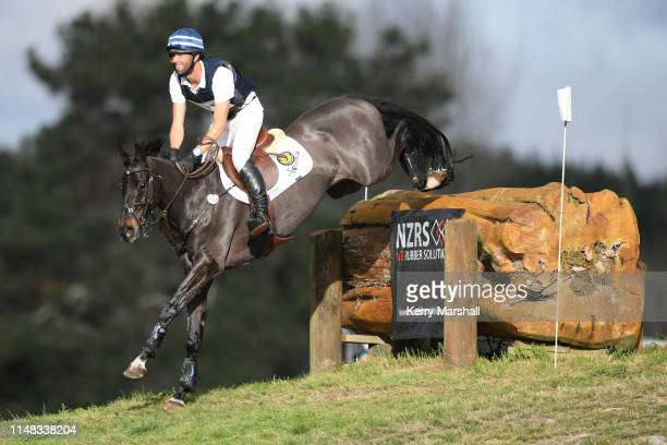 Clarke Johnstone rides Deo Volente in the CCI 3* during the National Three Day Event Championships on May 11 2019 in Taupo New Zealand