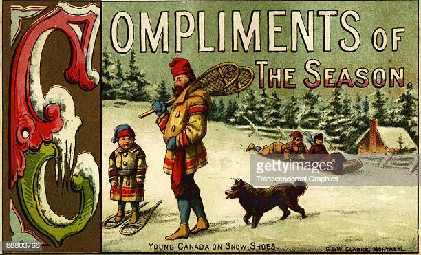 W Clarke lithographers of Montreal issue this card as a seasonal greetings in Canada about 1890