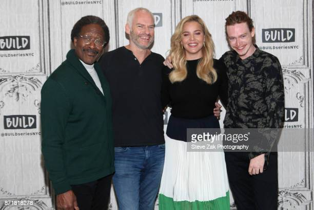 Clarke Peters Martin McDonagh Abbie Cornish and Caleb Landry Jones attend Build Series to discuss 'Three Billboards Outside Ebbing Missouri' at Build...