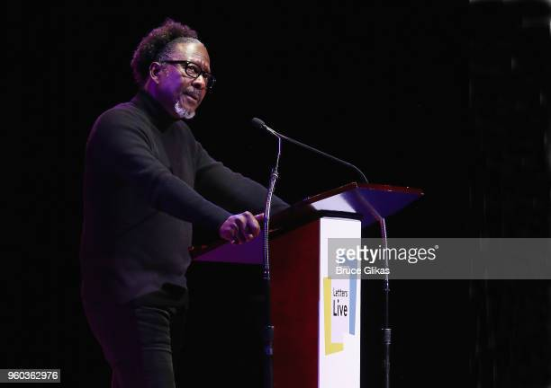 Clarke Peters performs in the New York debut of the hit show 'Letters Live' at Town Hall on May 19 2018 in New York City