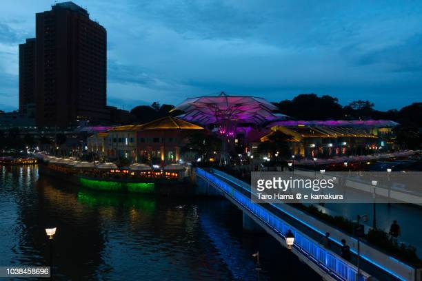 Clarke Quay and Singapore River in Singapore