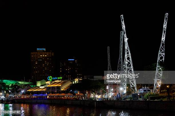 Clarke quay by night in Singapore