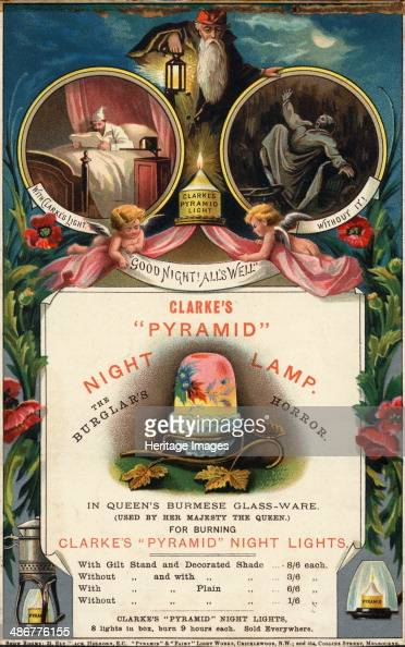 Clarkes Pyramid Night Lamp, 1890s  News Photo - Getty Images