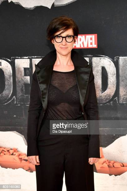 S J Clarkson attends the Marvel's The Defenders New York Premiere at Tribeca Performing Arts Center on July 31 2017 in New York City
