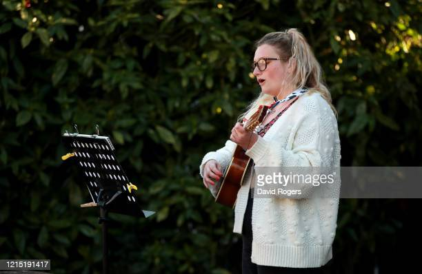 Clarrie Jackson a former student of the Northamptonshire Music and Performing Arts Trust performs as part of the #NMPositiviT campaign making use of...
