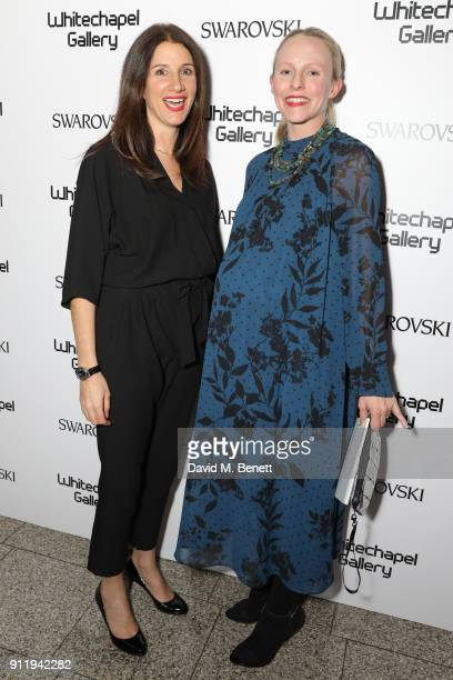 Clarrie Wallis and Hannah Gruy attend a gala dinner to celebrate Mona Hatoum as Whitechapel Gallery Art Icon with Swarovski at Whitechapel Gallery on...