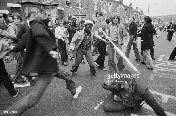 A clash between National Front supporters and their opponents in Birmingham 16th August 1977