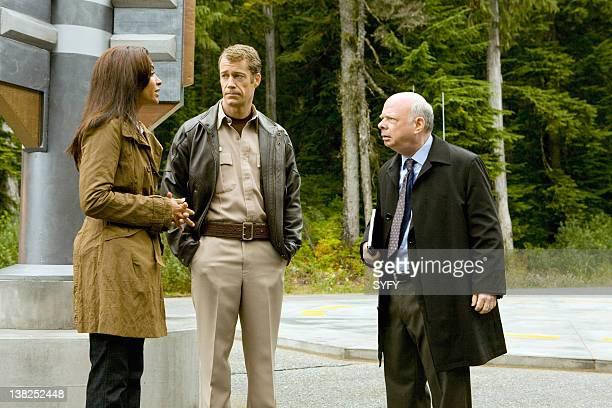 EUREKA Clash of the Titans Episode 417 Pictured Salli RichardsonWhitfield as Allison Blake Colin Ferguson as Jack Carter Wallace Shawn as Warren...