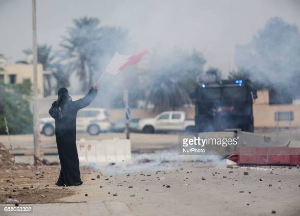 Clashes after the death of a young Bahraini after being shot outside the home of the Shiite leader in Bahrain on March 25 2017 A young Bahraini man...