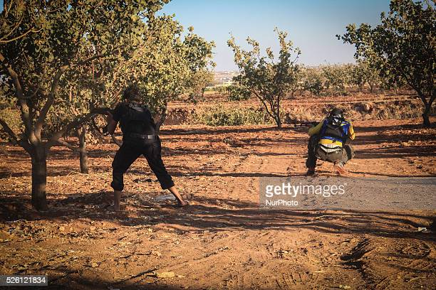 Clashes between the forces of the Syrian opposition And ISIS Near the city of Mare' In the countryside of Aleppo on September 17 2014