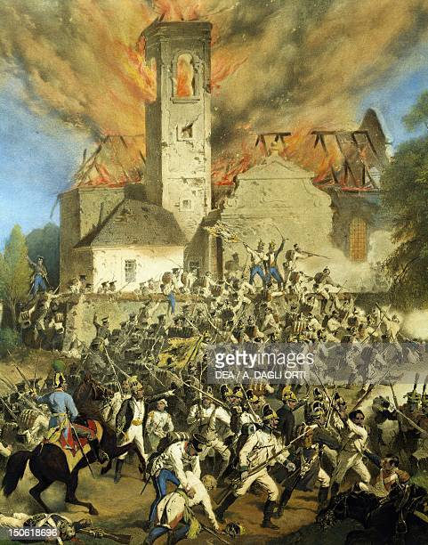 Clashes between the French and Austrians for the capture of Vienna Napoleonic wars Austria 19th century