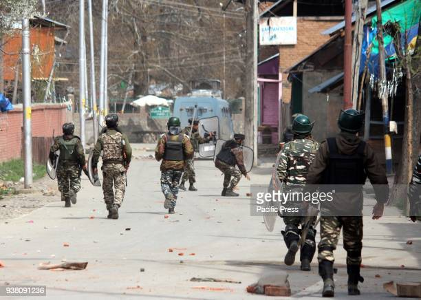 Clashes erupted after security forces killed two foreign militants belonged to the JaisheMohammad outfit and were residents of Pakistan at Dooru area...
