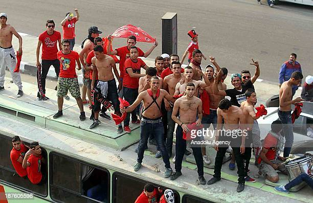 Clashes erupted between supporters of Egyptian team AlAhly and security forces ahead of the African Champions League second leg final match between...