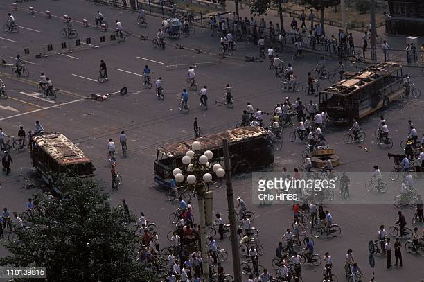 Clashes in Tiananmen Square in Beijing China on June 04 1989