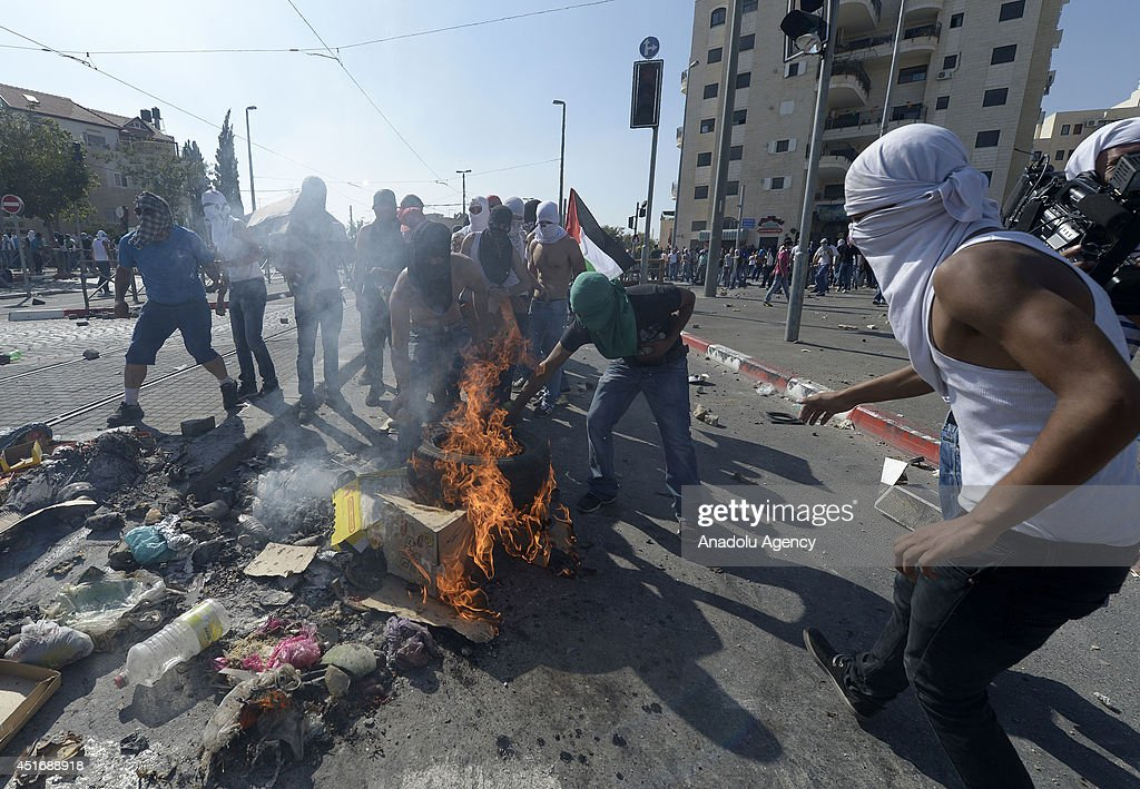 Clashes over slain Palestinian teen in Jerusalem : News Photo