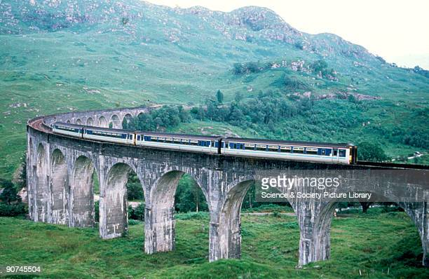 Class 156 locomotive crossing the Glenfinnan Viaduct on the West Highland 1997 The West Highland Line runs from Glasgow via Fort William to Mallaig...