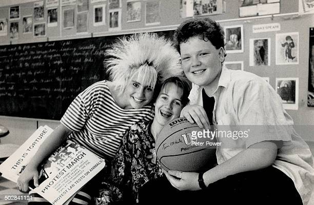 A class act Amanda Spike Stepto Sara Ballingall and Duncan Waugh star in Degrassi Junior High the popular Canadian TV series seen by millions around...