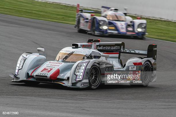 Class Audi Sport Team Joest Audi R18 e-tron quattro of Andre Lotterer / Benoit Treluyer / Marcel Fassler in action during Free Practice 1 at Round 2...