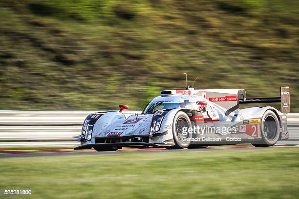 Class Audi Sport Team Joest Audi R18 e-tron quattro of Andre Lotterer / Benoit Treluyer / Marcel Fassler in action during the race of Round 2 of the...