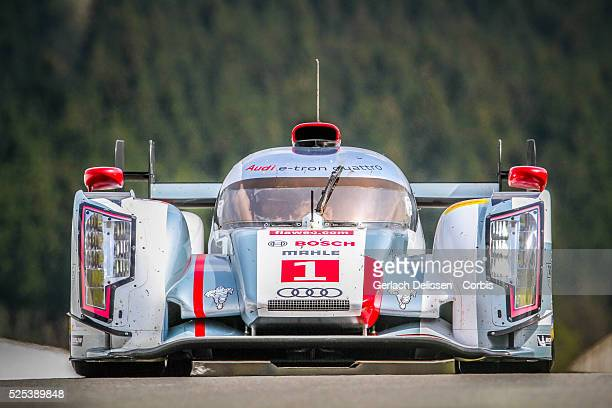 Class Audi Sport Team Joest Audi R18 e-tron quattro of Andre Lotterer / Benoit Treluyer / Marcel Fassler in action during Free Practice 2 at Round 2...