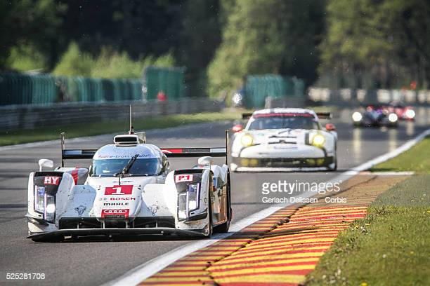 Class Audi Sport Team Joest Audi R18 e-tron quattro of Lucas Di Grassi , Loic Duval and Tom Kristensen in action during the race of Round 2 of the...