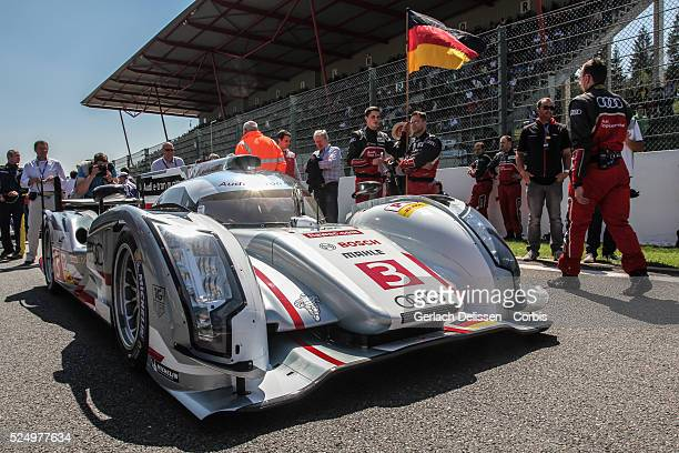 Class Audi Sport Team Joest Audi R18 e-tron quattro of Marc Gene / Lucas Di Grassi / Oliver Jarvis waiting on the grid before race start of Round 2...