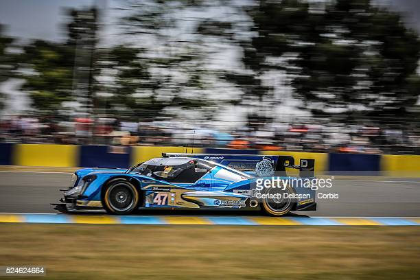 LMP2 class KCMG Oreca 05 Nissan of Matthew Howson Richard Bradley and Nicolas Lapierre in action during the 83rd running of the Le Mans 24 Hours June...