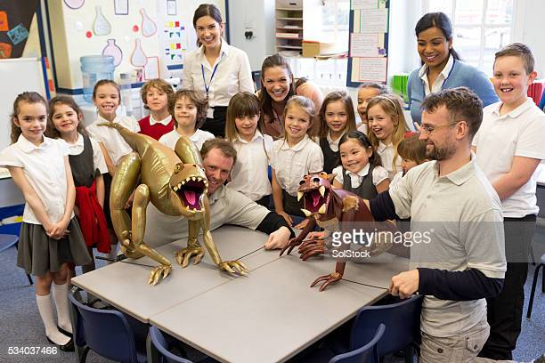 Class learning through puppets