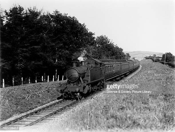 GWR 4575 class locomotive at Ackland Cross Great Western Railway 262T 4575 class locomotive down passenger train at Ackland Cross c1928