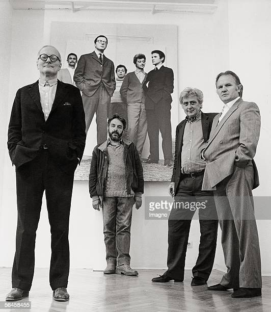 'Class of 29' 30 years after the shooting of 1954 Josef Mikl Arnulf Rainer Wolfgang Hutter Anton Lehmden Photography 1984 [Der Jahrgang 1929 30 Jahre...
