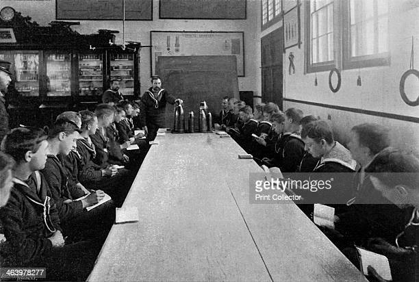 A class of seamen at ammunition instruction Whale Island Portsmouth Hampshire 1896 A print from The Navy and Army Illustrated 26th June 1896