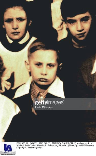A class photo of Vladimir Putin dated 1960 in St Petersburg Russia