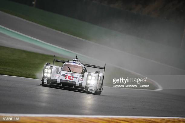 Class Porsche Team Porsche 919 - Hybrid of Romain Dumas / Neel Jani / Marc Lieb in action during Free Practice 1 of Round 2 of the 2014 FIA World...