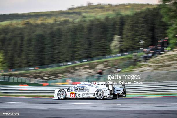 Class Porsche Team Porsche 919 - Hybrid of Romain Dumas / Neel Jani / Marc Lieb in action during the race of Round 2 of the 2014 FIA World Endurance...