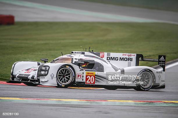 Class Porsche Team Porsche 919 - Hybrid of Timo Bernhard / Mark Webber / Brendon Hartley in action during Free Practice 1 of Round 2 of the 2014 FIA...