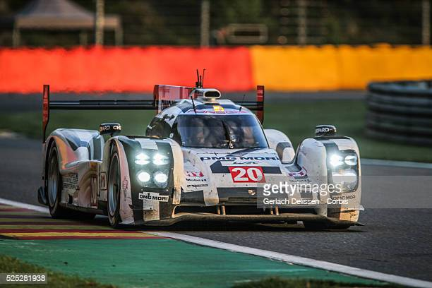 LMP1 class Porsche Team Porsche 919 Hybrid of Timo Bernhard / Mark Webber / Brendon Hartley in action during the race of Round 2 of the 2014 FIA...