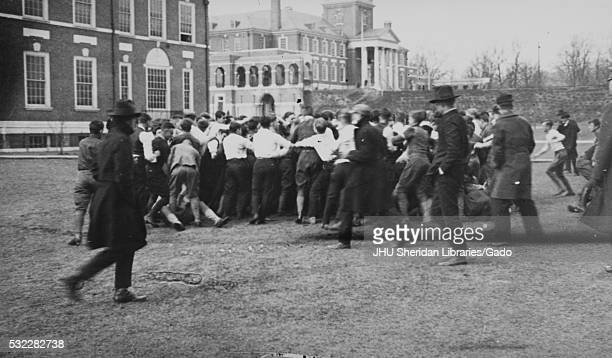 Class Rush in progress between Latrobe and Maryland Halls 1919