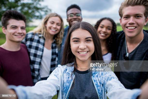 class selfie - teasing stock pictures, royalty-free photos & images