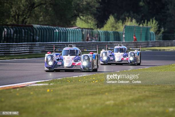 Class Toyota Racing Toyota TS040 - Hybrid of Alexander Wurz / Stephane Sarrazin / Kazuki Nakajima in action during the race of Round 2 of the 2014...