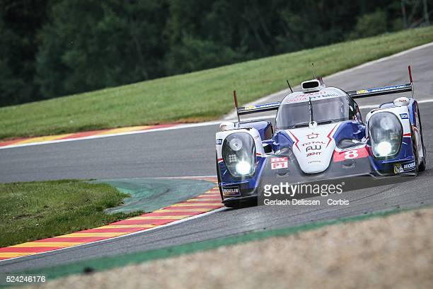 Class Toyota Racing Toyota TS040 - Hybrid of Anthony Davidson / Nicolas Lapierre / Sébastien Buemi in action during Free Practice 2 of Round 2 of the...