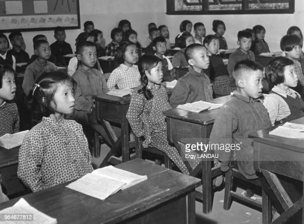 Classe d'une école de village en Chine circa 1950