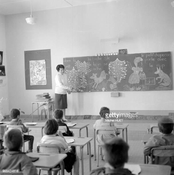 Classe d'une école française à Fort Gouraud Mauritanie