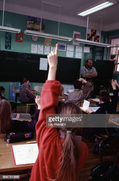 Classe d'une école primaire à Gentilly en 1995 dans le ValdeMarne France