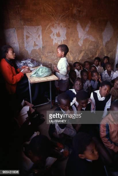 Classe d'une école primaire à Orange Farm Afrique du Sud