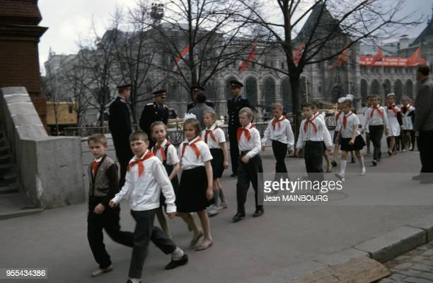 Classe d'une école sur la place Rouge à Moscou Russie