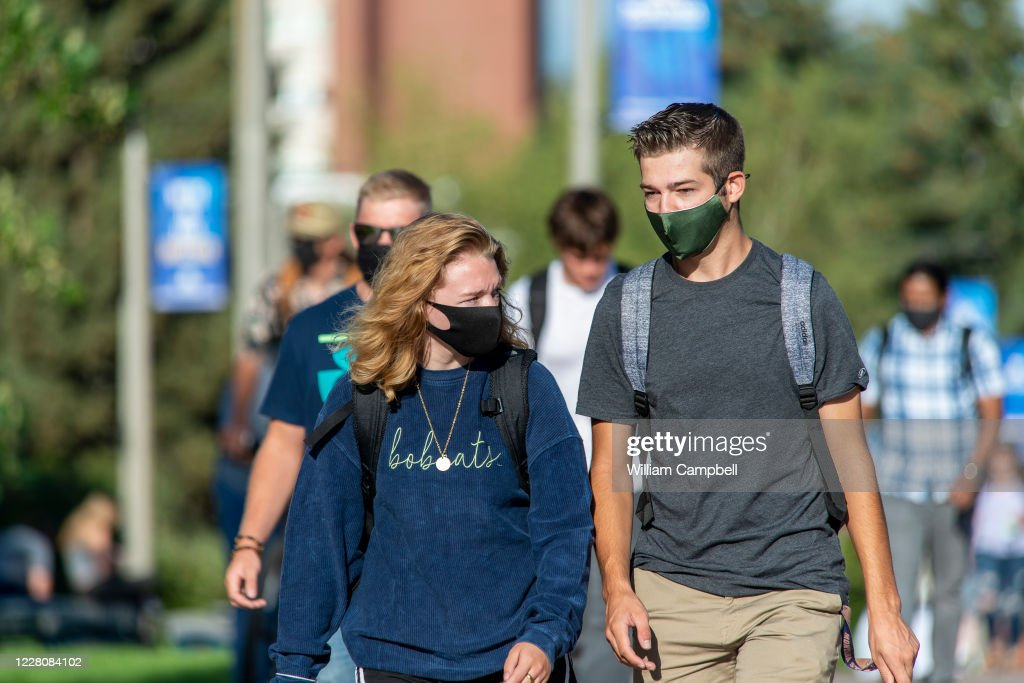 Classes Begin For Fall Semester At Montana State University With Pandemic Precautions : News Photo